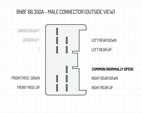 BN8F 66 350A Mazda3 Power Window Pinout